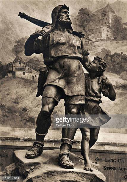 William / Wilhelm Tell statue of Swiss folk hero famed for archery immortalised by Friedrich von Schiller 's poetry and Rossini 's opera Nationalism