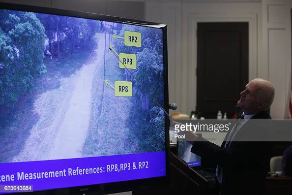 William Williams points to a screen during testimony in the murder trial of former North Charleston police officer Michael Slager at the Charleston...