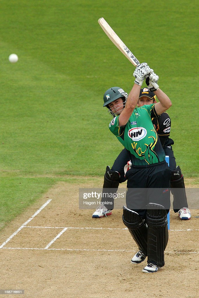 William Young of Central Districts bats during the Twenty20 match between Wellington Firebirds and Central Stags at Hawkins Basin Reserve on December 26, 2012 in Wellington, New Zealand.