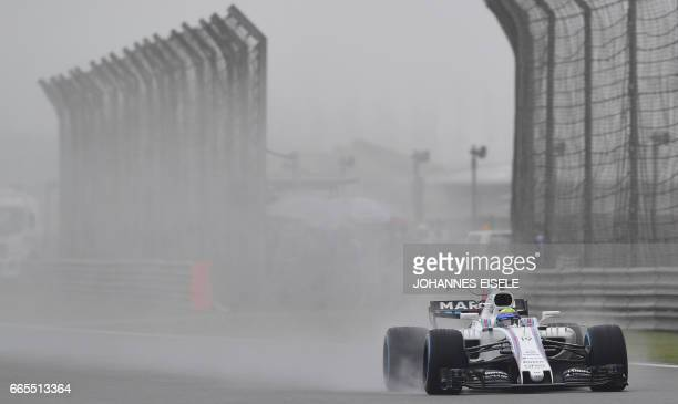 Williams' Brazilian driver Felipe Massa drives during the first practice session of the Formula One Chinese Grand Prix in Shanghai on April 7 2017 /...