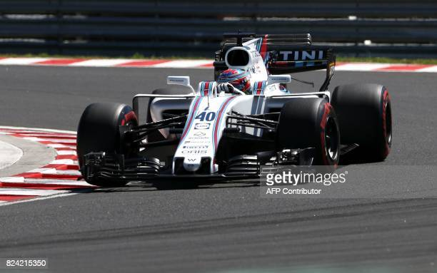 Williams' British reserve driver Paul di Resta takes part in the qualifying at the Hungaroring racing circuit in Budapest on July 29 2017 prior to...