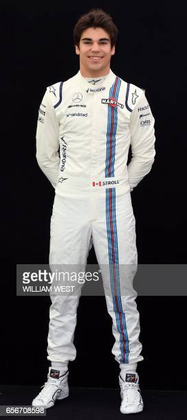 Williams' Canadian driver Lance Stroll poses for a photo in Melbourne on March 23 ahead of the Formula One Australian Grand Prix PHOTO / William WEST...