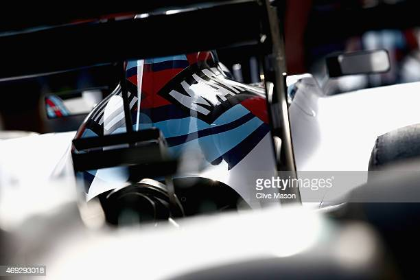 Williams car in Parc Ferme after qualifying for the Formula One Grand Prix of China at Shanghai International Circuit on April 11 2015 in Shanghai...