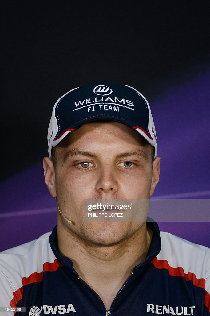 Williams driver Valtteri Bottas of Finland attends a press conference ahead of the Formula One Malaysian Grand Prix in Sepang on March 21, 2013. The Malaysian Grand Prix takes place on March 24. AFP PHOTO / Philippe Lopez