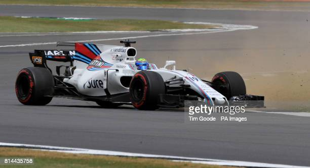 Williams' Felipe Massa during second practice of the 2017 British Grand Prix at Silverstone Circuit Towcester