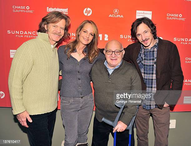 Williams H Macy actress Helen Hunt writer /producer Ben Lewin and actor John Hawkes attend 'The Surrogate' premiere during the 2012 Sundance Film...