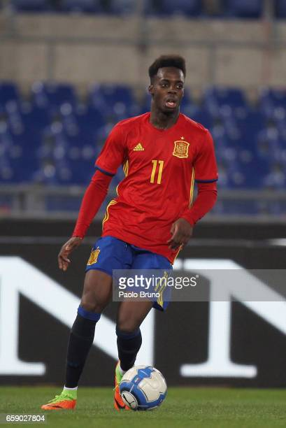 Williams Inaki of Spain in action during the international friendly match between Italy U21 and Spain U21 at Olimpico Stadium on March 27 2017 in...