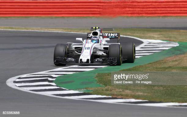 Williams Lance Stroll during second practice of the 2017 British Grand Prix at Silverstone Circuit Towcester