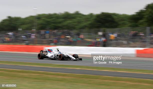 Williams' Lance Stroll during third practice of the 2017 British Grand Prix at Silverstone Circuit Towcester