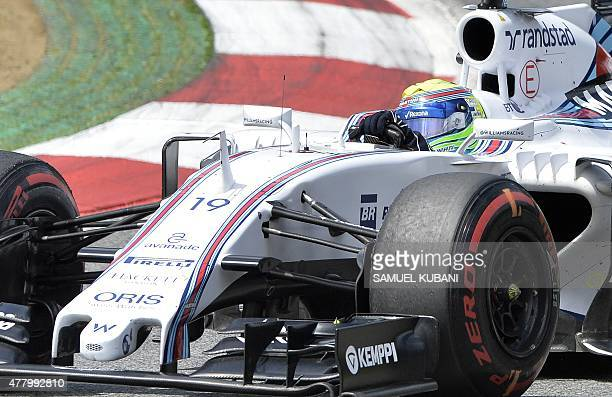 Williams Martini Racing's Brazilian driver Felipe Massa competes at the Red Bull Ring in Spielberg Austria on June 21 during the Austrian Formula One...