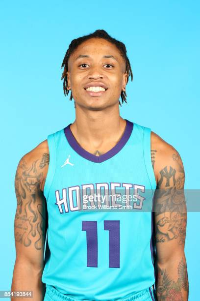 J Williams of the Charlotte Hornets poses for a head shot during media day at Spectrum Center in Charlotte North Carolina NOTE TO USER User expressly...