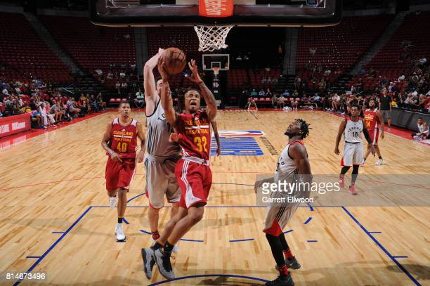 J Williams of the Cleveland Cavaliers goes to the basket against the Toronto Raptors on July 14 2017 at the Thomas Mack Center in Las Vegas Nevada...