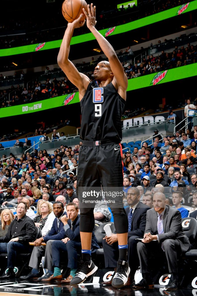 C.J. Williams #9 of the LA Clippers shoots the ball against the Orlando Magic on December 13, 2017 at Amway Center in Orlando, Florida.
