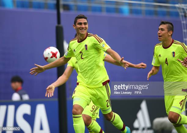 Williams Velasquez of Venezuela celebrates after scoring the opening goal during the FIFA U20 World Cup Korea Republic 2017 group B match between...