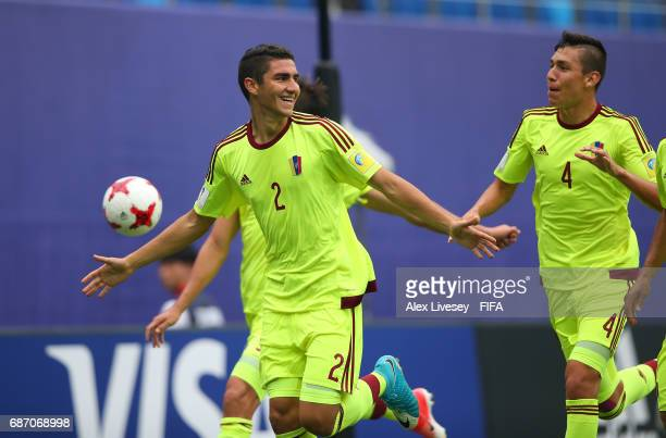 Williams Velasquez of Venezuela celebrtes after scoring the opening goal during the FIFA U20 World Cup Korea Republic 2017 group B match between...