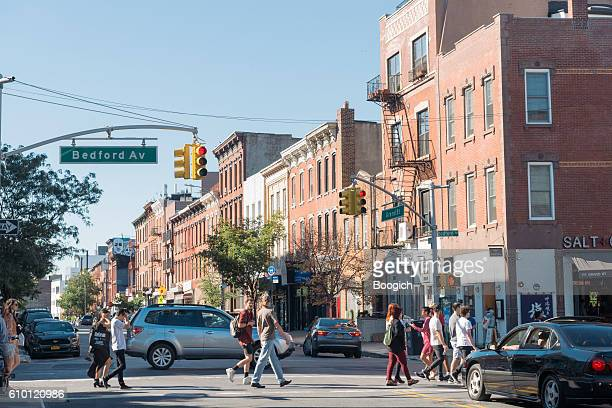 Williamsburg Brooklyn New York City Street Scene Bedford Avenue Neighborhood