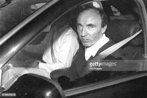 WilliamsRenault team boss Frank Williams arriving at the company's headquarters in Didcot Oxfordshire Triple Formula One champion Ayrton Senna was...