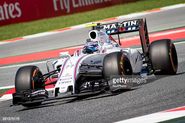 MONTMEL�� MAY 14 2016 Williams's Valteri Bottas during the training sessions of F1 Grand Prix of Spain at Catalunya's Circuit in Montmet�� Spain on...