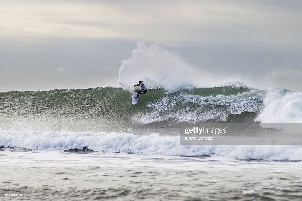 Willian Cardoso of Brasil surfs during round three of the Rip Curl Pro on April 1, 2013 in Bells Beach, Australia.