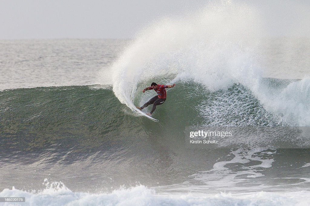 Willian Cardoso of Brasil surfs to an equal fifth place on April 2, 2013 in Bells Beach, Australia.