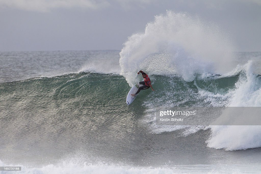 Willian Cardoso surfs to an equal fifth place April 2, 2013 in Bells Beach, Australia.
