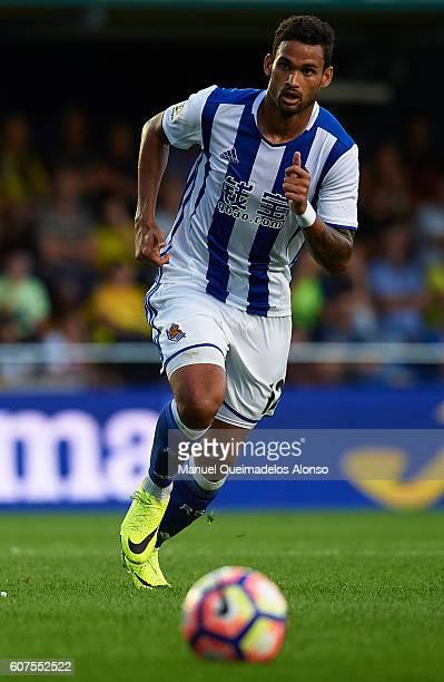 Willian Jose of Real Sociedad in action during the La Liga match between Villarreal CF and Real Sociedad at El Madrigal on September 18 2016 in...