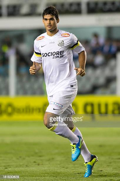 Willian Jose of Santos during the match between Santos and Criciuma for the Brazilian Series A 2013 at Vila Belmiro stadium on September 22 2013 in...