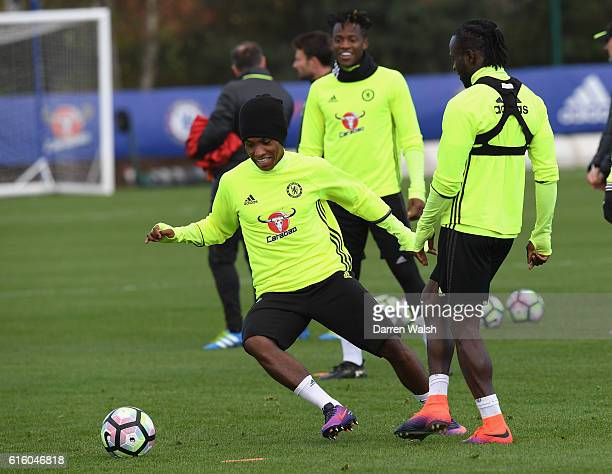 Willian of Chelsea during a training session at Chelsea Training Ground on October 21 2016 in Cobham England