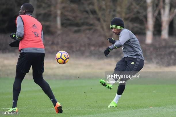 Willian of Chelsea during a training session at Chelsea Training Ground on March 3 2017 in Cobham England