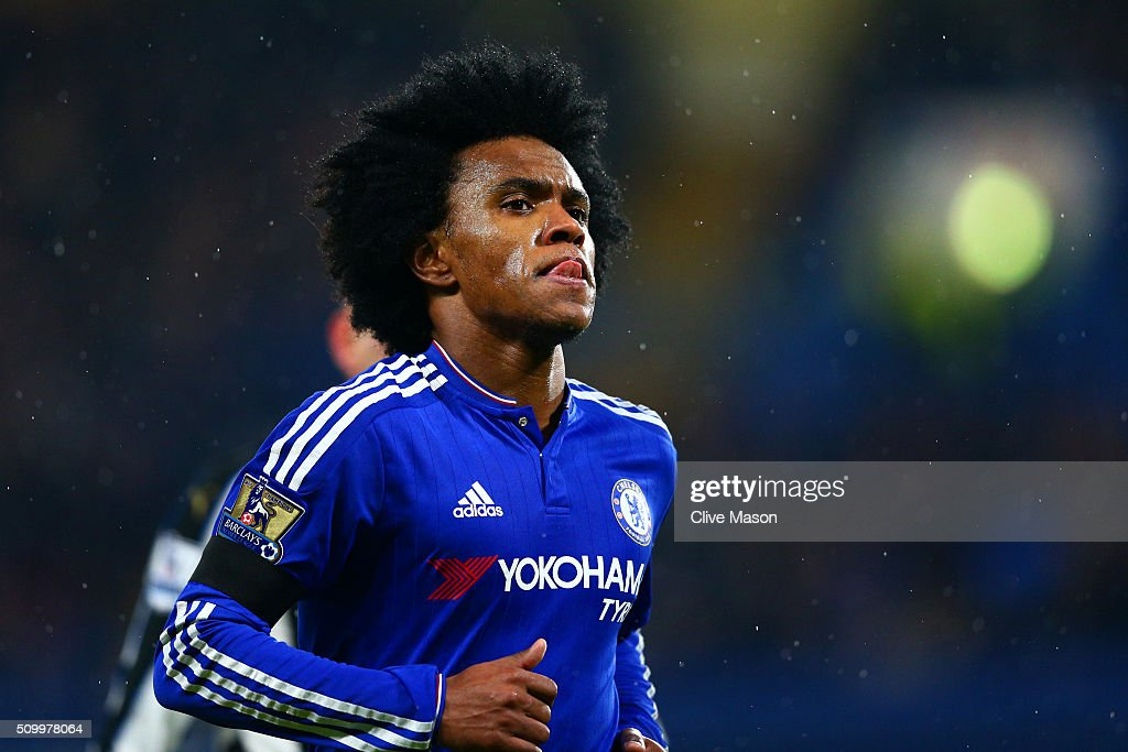 <a gi-track='captionPersonalityLinkClicked' href=/galleries/search?phrase=Willian+-+Soccer+Player+for+Chelsea+and+Brazil&family=editorial&specificpeople=9886576 ng-click='$event.stopPropagation()'>Willian</a> of Chelsea is seen during the Barclays Premier League match between Chelsea and Newcastle United at Stamford Bridge on February 13, 2016 in London, England.