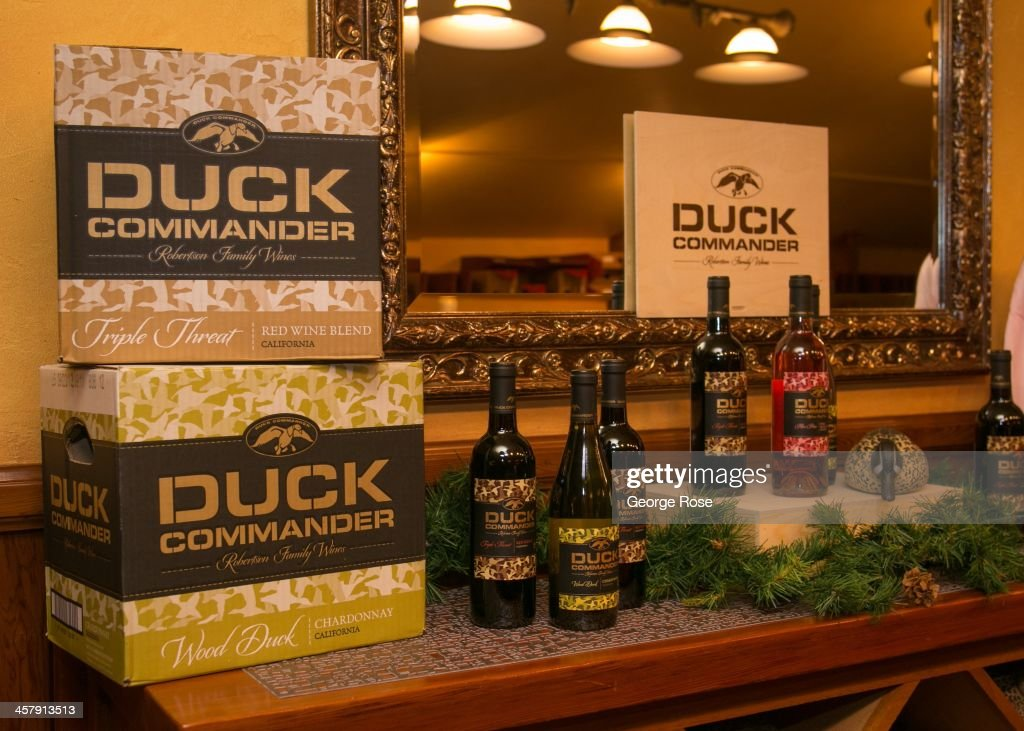 Willie and Korie Robertson, stars of A&E's hit TV show, Duck Dynasty, are in the Napa Valley to help launch their new wine brand on November 19, 2013, in Saint Helena, California. Produced in conjunction with Trinchero Family Estates, the new celebrity-driven wines include a chardonnay, a red blend, and a sweet moscato.