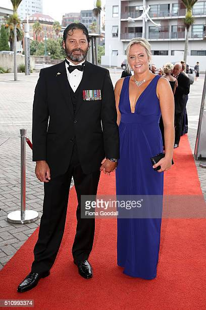 Willie Apiata VC arrives at the 2016 Halberg Awards at Vector Arena on February 18 2016 in Auckland New Zealand