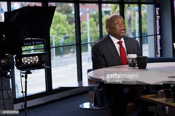 Willie Brown former mayor of San Francisco speaks during a Bloomberg West television interview in San Francisco California US on Tuesday Aug 12 2014...