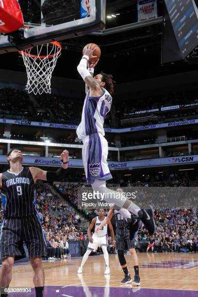 Willie CauleyStein of the Sacramento Kings dunks against the Orlando Magic on March 13 2017 at Golden 1 Center in Sacramento California NOTE TO USER...
