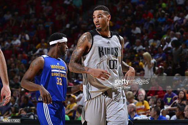 Willie CauleyStein of the Sacramento Kings during the game against the Golden State Warriors on July 13 2015 at the Thomas Mack Center in Las Vegas...