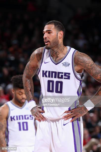 Willie CauleyStein of the Sacramento Kings looks on against the Portland Trail Blazers on November 18 2017 at the Moda Center in Portland Oregon NOTE...