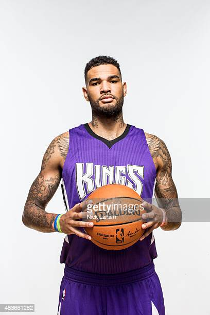 Willie CauleyStein of the Sacramento Kings poses for a portrait during the 2015 NBA rookie photo shoot on August 8 2015 at the Madison Square Garden...