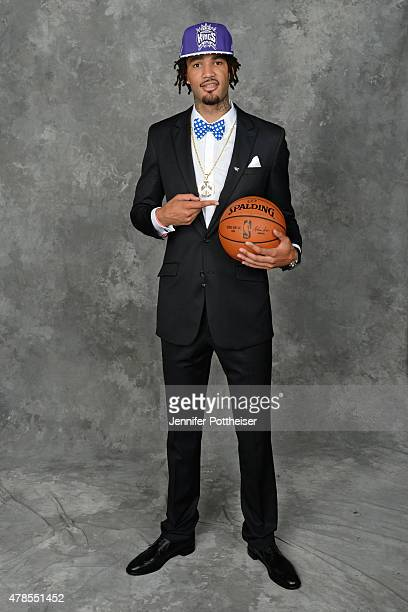 Willie CauleyStein poses for a portrait after being drafted number six overall by the Sacramento Kings during the 2015 NBA Draft at the Barclays...