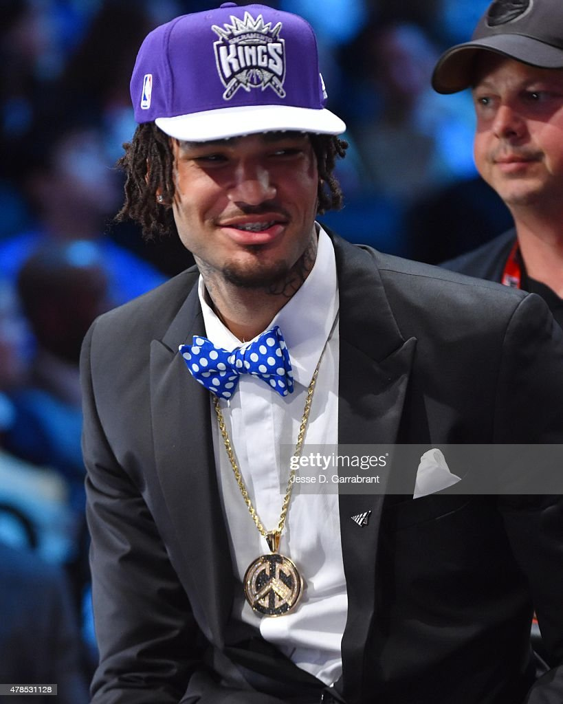 Willie Cauley-Stein the 6th pick overall in the 2015 NBA Draft by the Sacramento Kings speaks to the media during the 2015 NBA Draft at the Barclays Center on June 25, 2015 in the Brooklyn borough of New York City.