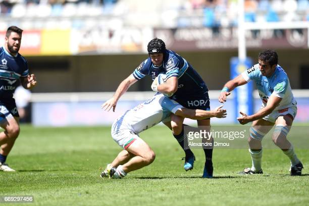Willie Du Plessis of Montpellier during the Top 14 match between Montpellier and Bayonne on April 16 2017 in Montpellier France