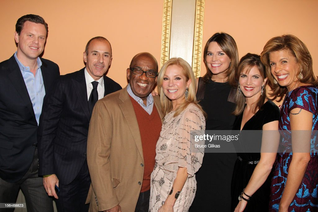Willie Geist, <a gi-track='captionPersonalityLinkClicked' href=/galleries/search?phrase=Matt+Lauer&family=editorial&specificpeople=206146 ng-click='$event.stopPropagation()'>Matt Lauer</a>, <a gi-track='captionPersonalityLinkClicked' href=/galleries/search?phrase=Al+Roker&family=editorial&specificpeople=206153 ng-click='$event.stopPropagation()'>Al Roker</a>, <a gi-track='captionPersonalityLinkClicked' href=/galleries/search?phrase=Kathie+Lee+Gifford&family=editorial&specificpeople=203269 ng-click='$event.stopPropagation()'>Kathie Lee Gifford</a>, <a gi-track='captionPersonalityLinkClicked' href=/galleries/search?phrase=Savannah+Guthrie&family=editorial&specificpeople=653313 ng-click='$event.stopPropagation()'>Savannah Guthrie</a>,<a gi-track='captionPersonalityLinkClicked' href=/galleries/search?phrase=Natalie+Morales+-+News+Anchor&family=editorial&specificpeople=710956 ng-click='$event.stopPropagation()'>Natalie Morales</a> and <a gi-track='captionPersonalityLinkClicked' href=/galleries/search?phrase=Hoda+Kotb&family=editorial&specificpeople=2338013 ng-click='$event.stopPropagation()'>Hoda Kotb</a> attend the opening night of 'Scandalous' on Broadway at the Neil Simon Theatre on November 15, 2012 in New York City.