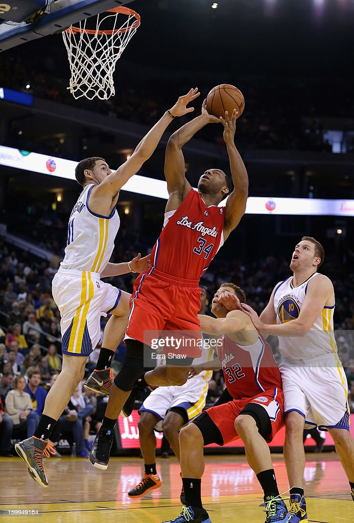 <a gi-track='captionPersonalityLinkClicked' href=/galleries/search?phrase=Willie+Green&family=editorial&specificpeople=201653 ng-click='$event.stopPropagation()'>Willie Green</a> #34 of the Los Angeles Clippers in action against the Golden State Warriors at Oracle Arena on January 21, 2013 in Oakland, California.