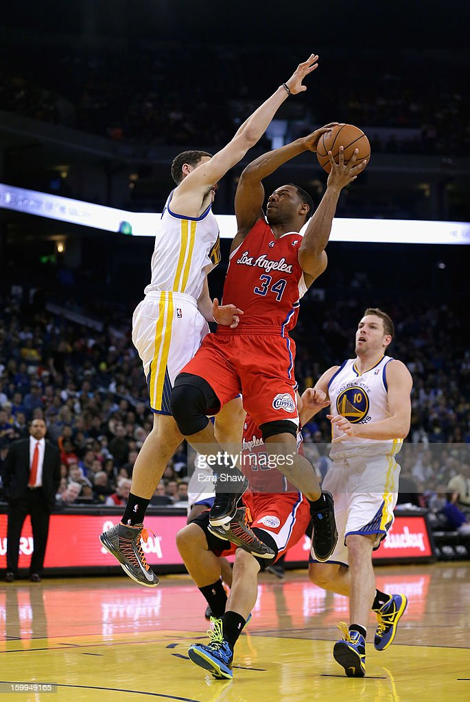Willie Green #34 of the Los Angeles Clippers in action against the Golden State Warriors at Oracle Arena on January 21, 2013 in Oakland, California.