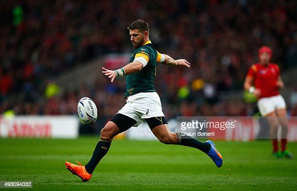 Willie Le Roux of South Africa during the 2015 Rugby World Cup Quarter Final match between South Africa and Wales at Twickenham Stadium on October 17...