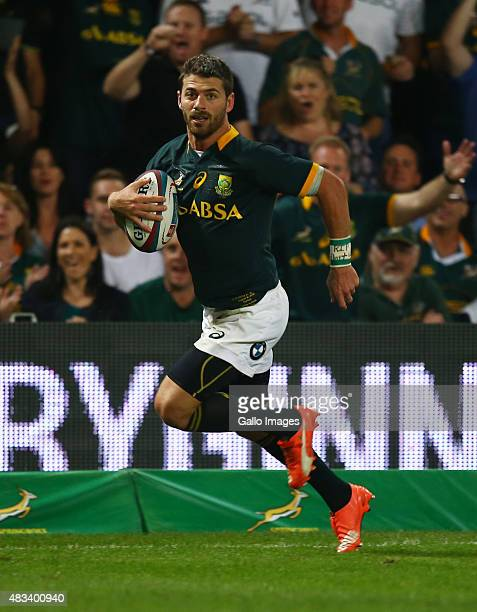 Willie le Roux of South Africa during The Castle Lager Rugby Championship 2015 match between South Africa and Argentina at Growthpoint Kings Park on...