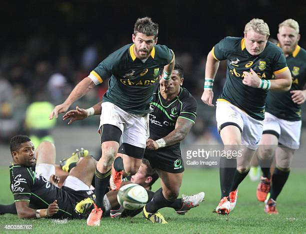 Willie le Roux of South Africa during the match between South Africa and World VX at DHL Newlands Stadium on July 11 2015 in Cape Town South Africa