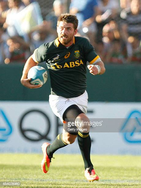 Willie le Roux of South Africa in action during a match between Argentina and South Africa as part of The Rugby Championship at Padre Ernesto...
