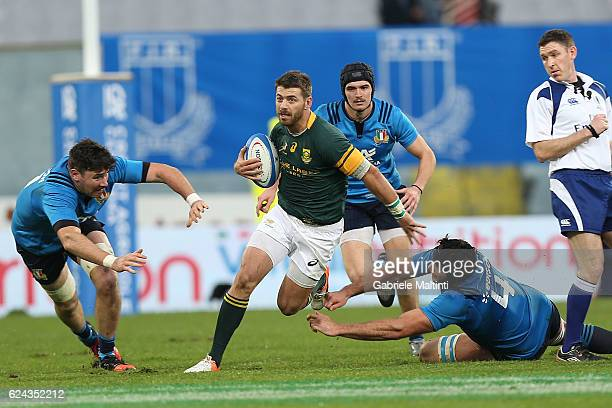 Willie le Roux of South Africa in action during the international match between Italy v South Africa at Stadio Olimpico on November 19 2016 in Rome...