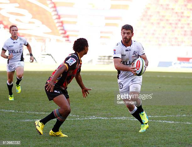 Willie le Roux of the Cell C Sharks during the 2016 Super Rugby match between Southern Kings and Cell C Sharks at Nelson Mandela Bay Stadium on...