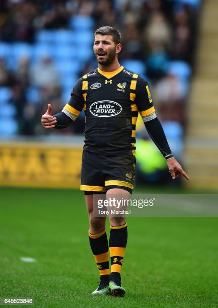 Willie Le Roux of Wasps during the Aviva Premiership match between Wasps and Gloucester Rugby at The Ricoh Arena on February 26 2017 in Coventry...
